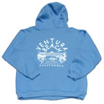 Blue Seaward Surf and Sport Ventura Beach sweatshirt for sale in store